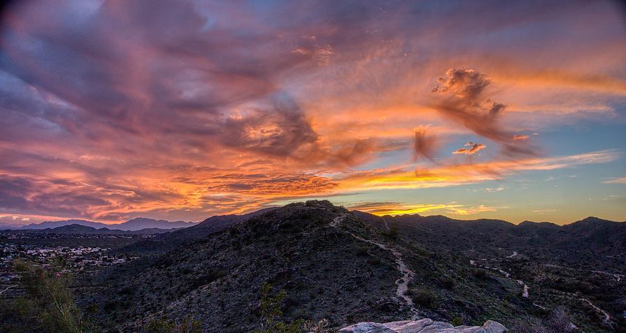 Orange Sunset Sky by Anthony Giammarino