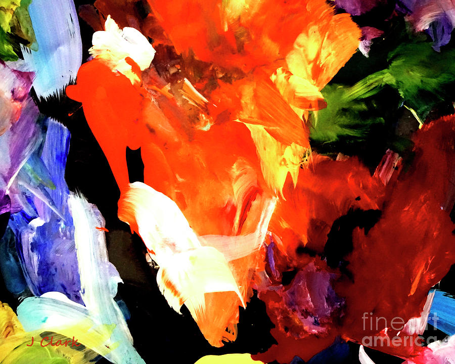 Abstract Painting - Orange Triangle by John Clark