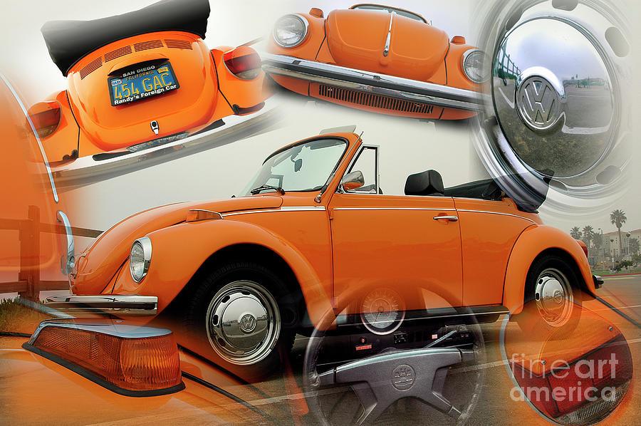 Orange VW Beetle Convertible by Charles Abrams