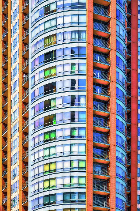 Orange, white and blue by Robert FERD Frank