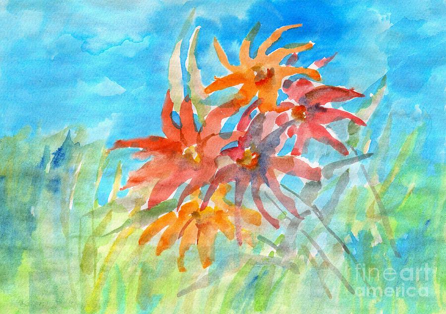 Orange wildflower on a meadow by Irina Dobrotsvet