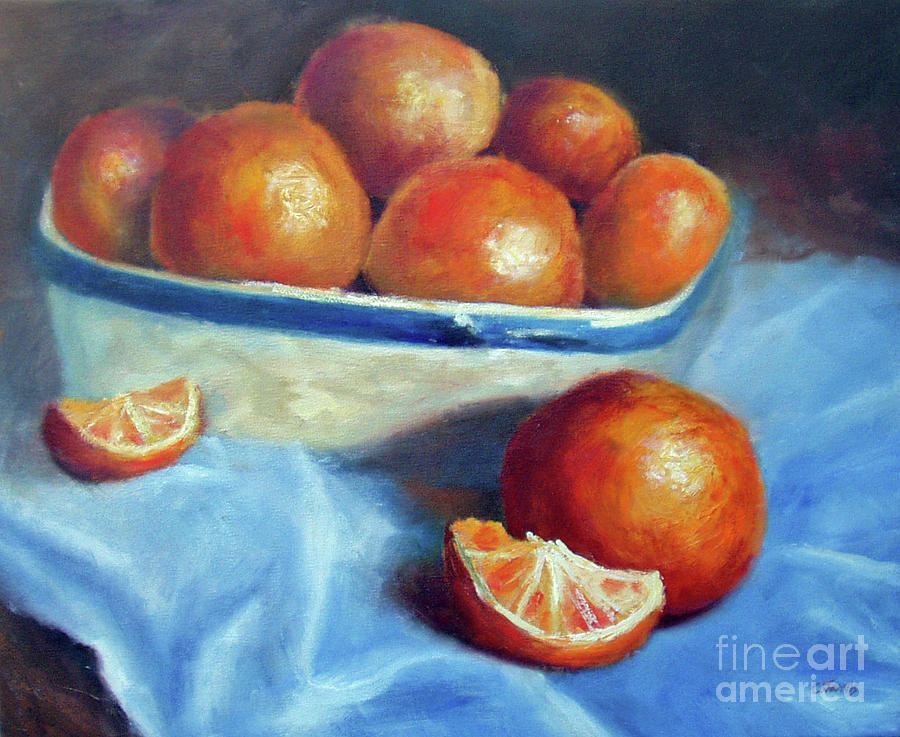 Oranges and Blue by Carolyn Jarvis