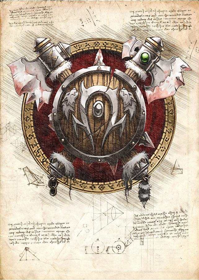 Orc Race Crest World Of Warcraft Wow Digital Art By Mad Lab