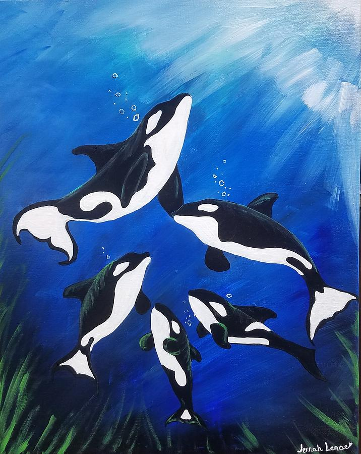 Orca Family  by Jennah Lenae