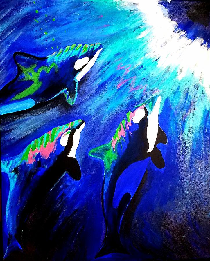 Orcas  by Jennah Lenae