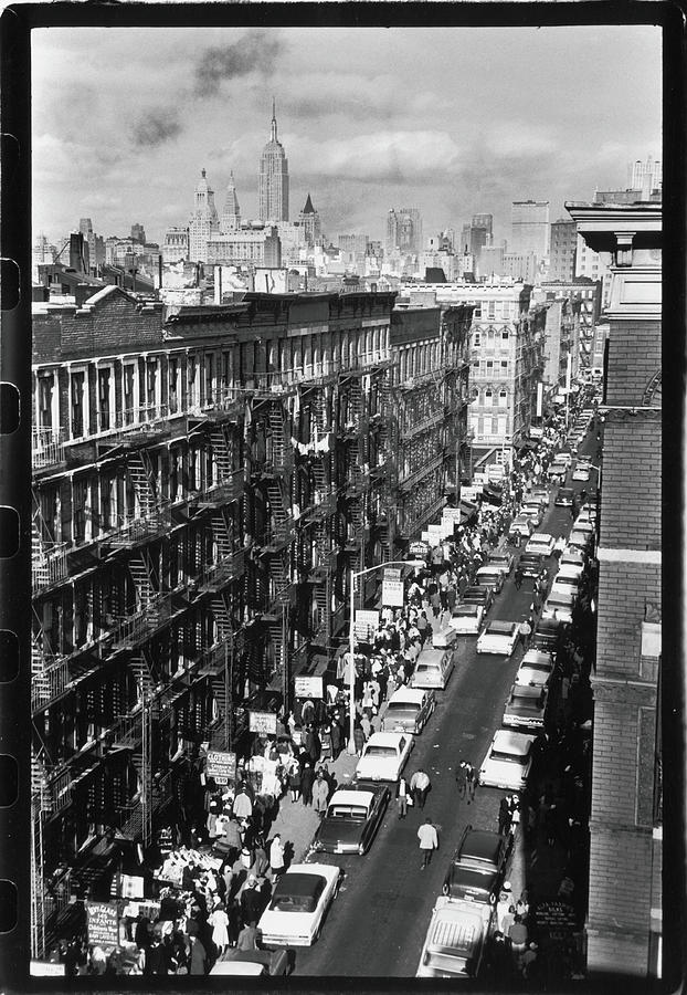 Orchard Street, 1963 Photograph by Fred W. McDarrah