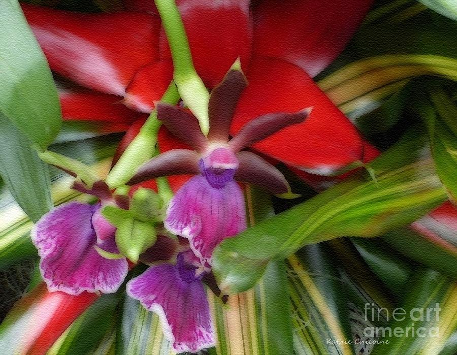Orchid Among the Cacti by Kathie Chicoine