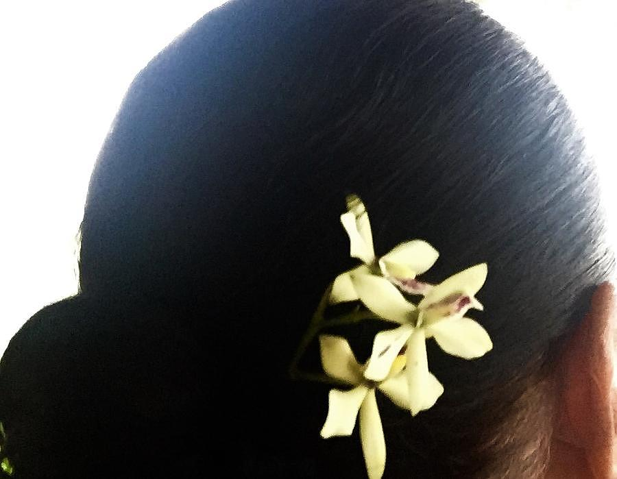 Orchids for my hair by Lehua Pekelo-Stearns