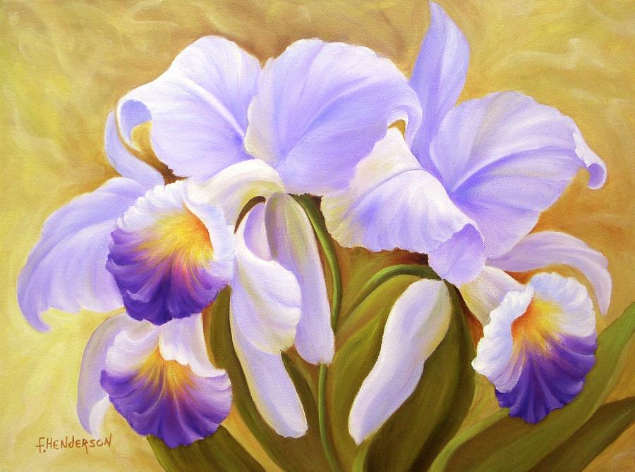 Orchid Painting - Orchids by Francine Henderson