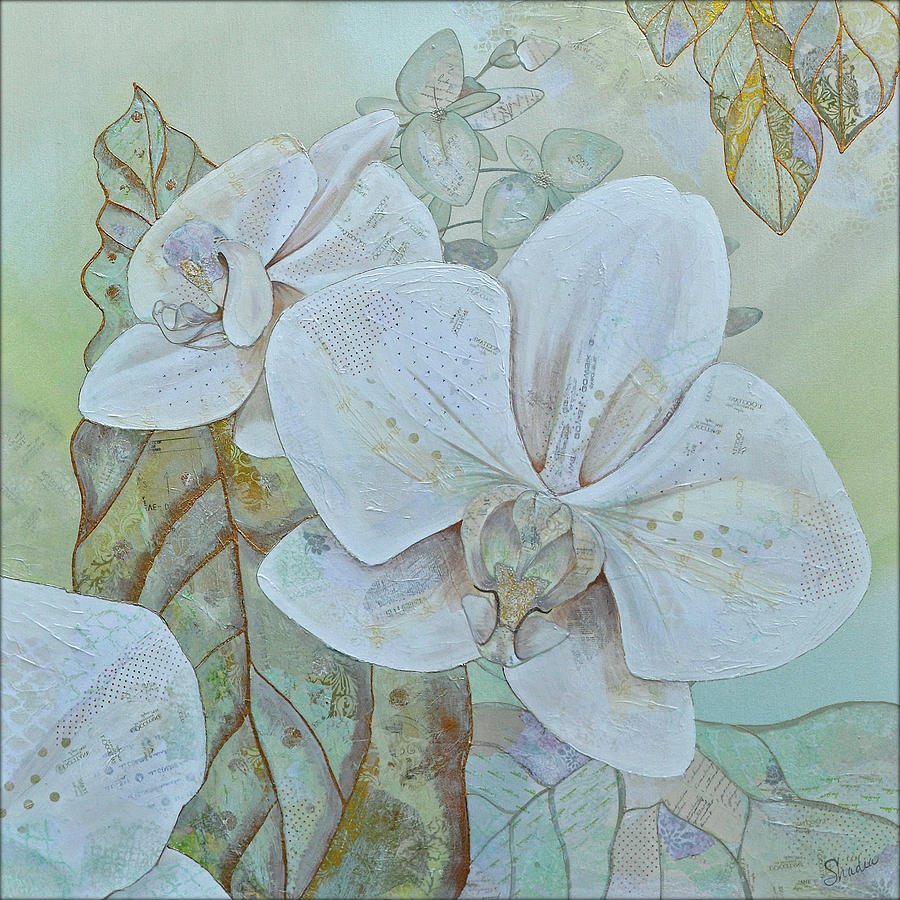 Orchids In White Painting