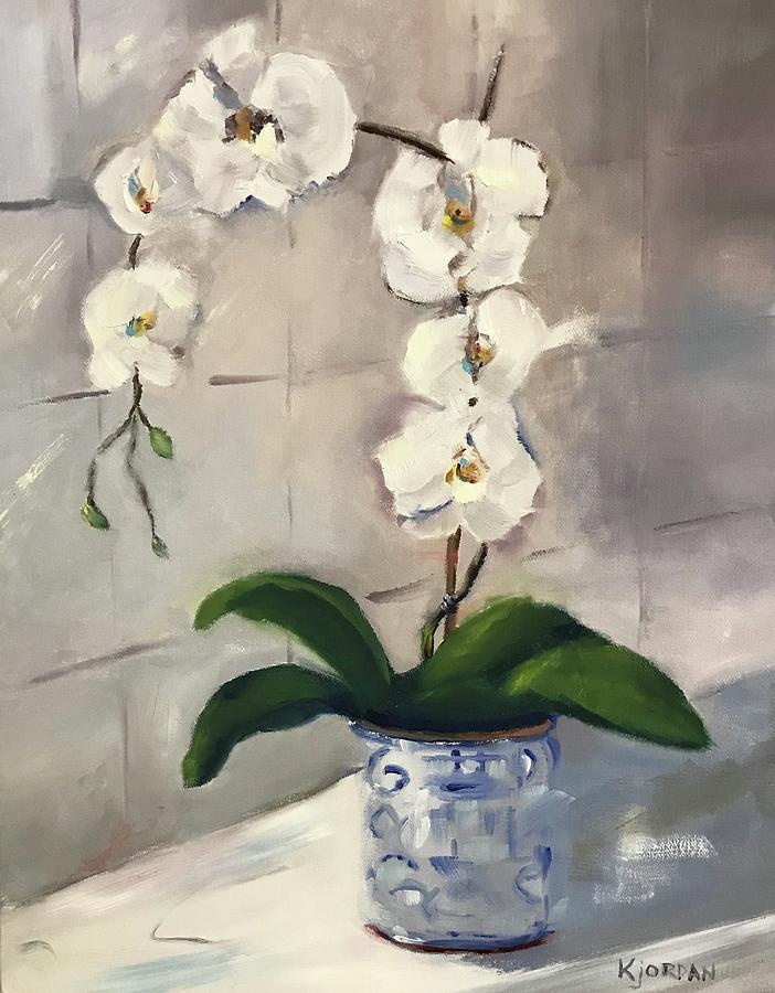 Orchids Painting - Orchids by Karen Jordan