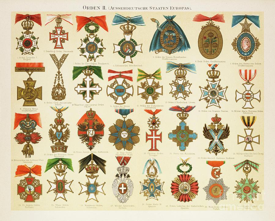 Orders Of Merit Chromolithograph 1895 Digital Art by Thepalmer