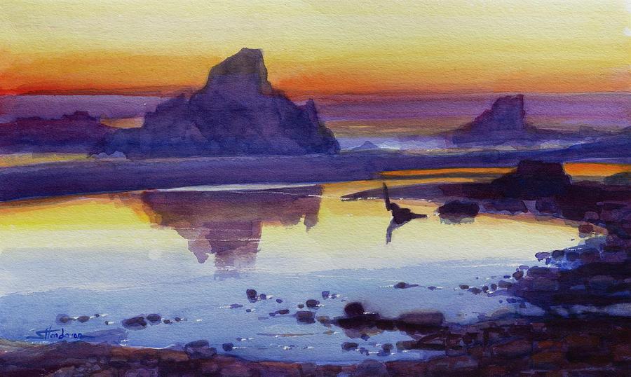 Oregon Coast Afterglow by Steve Henderson