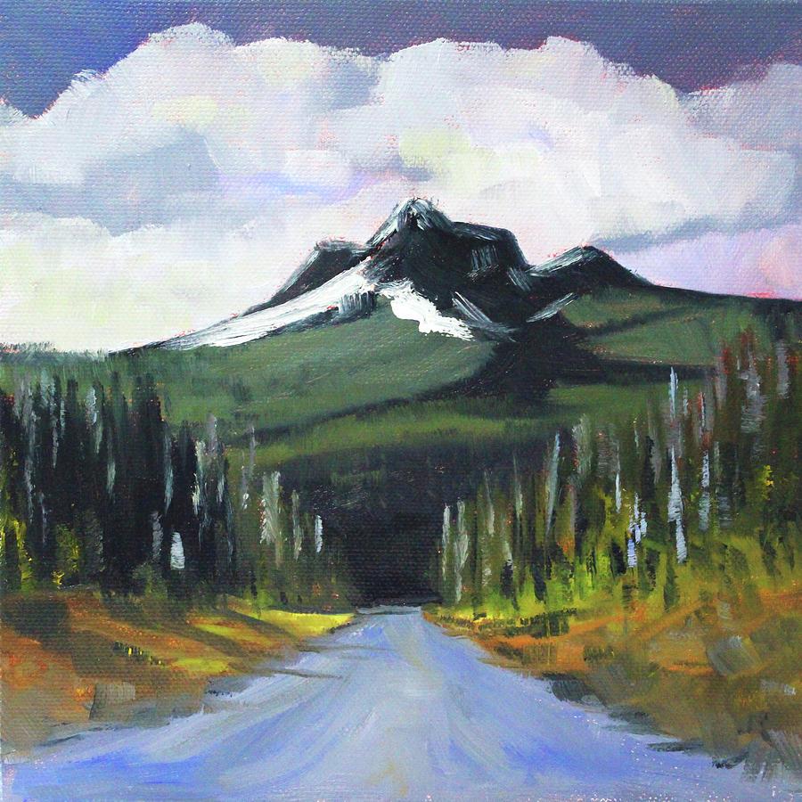 Oregon Landscape Painting - Oregon Road Trip by Nancy Merkle
