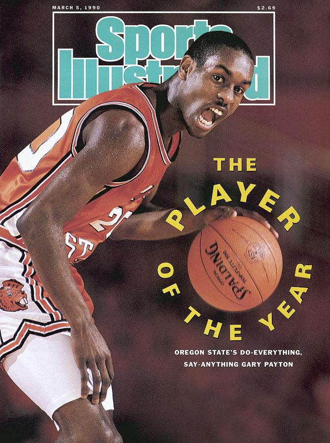 Oregon State Gary Payton Sports Illustrated Cover Photograph by Sports Illustrated