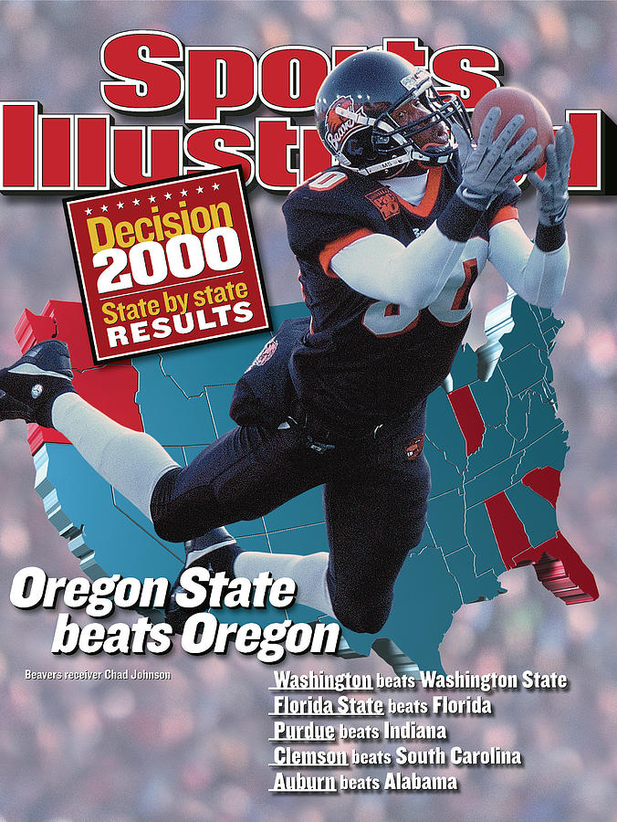 Oregon State University Chad Johnson Sports Illustrated Cover Photograph by Sports Illustrated