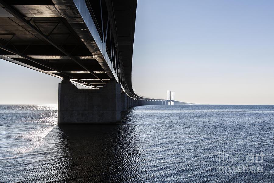 Concrete Photograph - Oresund Bridge,oresunds Bron, Bridge On by Babaroga