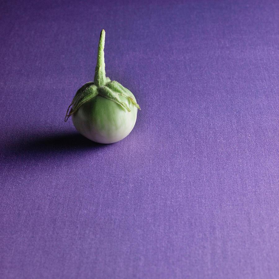 Organic Thai Eggplant, Kermit Eggplant Photograph by Monica Rodriguez