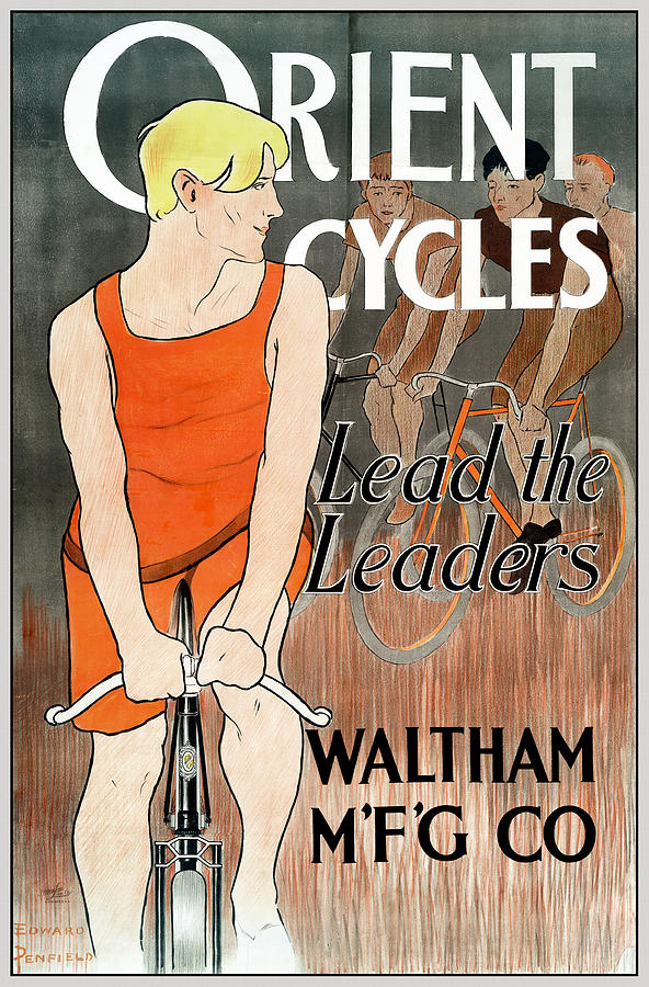 Orient Cycles, Lead The Leaders Poster, circa 1895 by Phil Cardamone