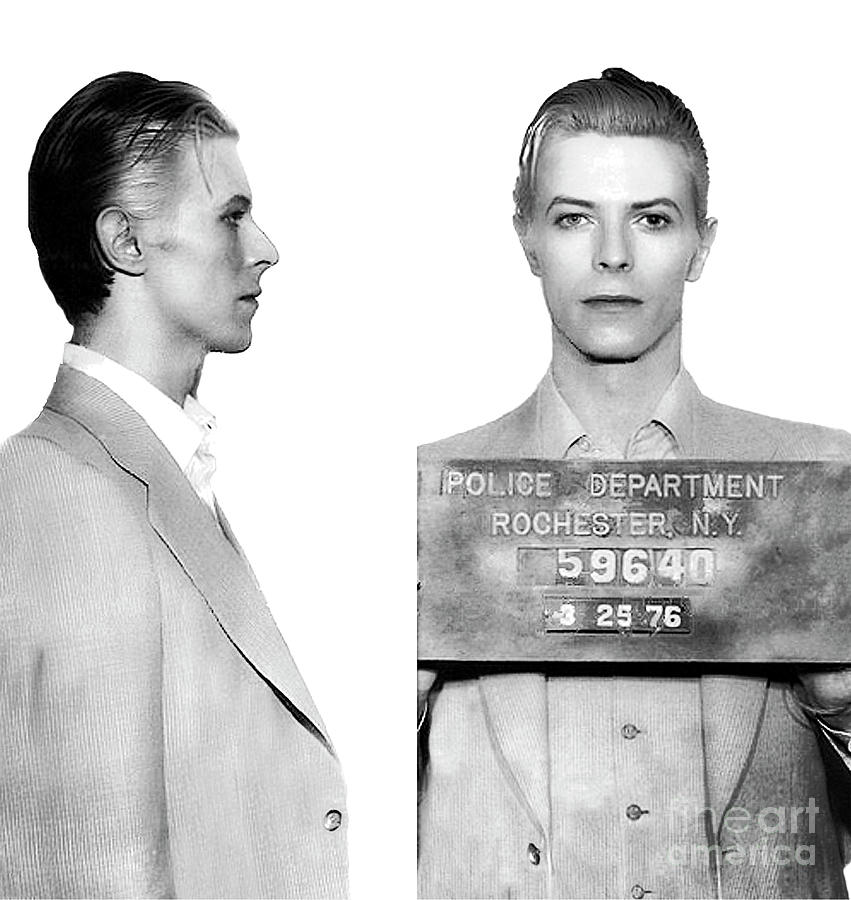 Original David Bowie Mugshot 1976 by Doc Braham