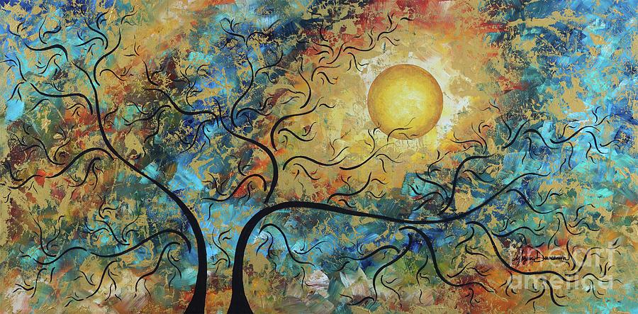 Original MADART Metallic Gold Abstract Landscape Moon Painting BREATHTAKING by Megan Duncanson by Megan Duncanson