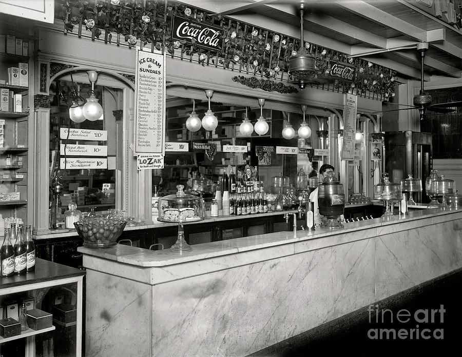 Original People's Drug Store Soda Fountain - 1921 by Doc Braham