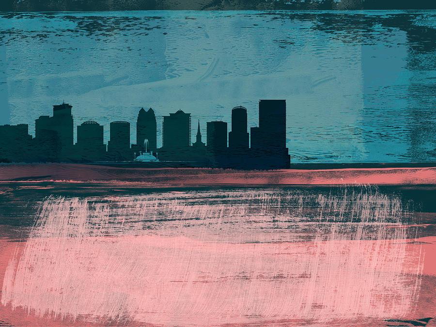 Orlando Mixed Media - Orlando Abstract Skyline II by Naxart Studio