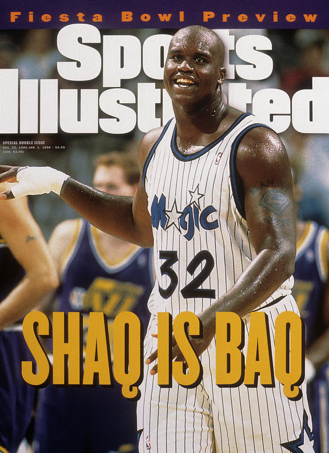 Orlando Magic Shaquille Oneal... Sports Illustrated Cover Photograph by Sports Illustrated