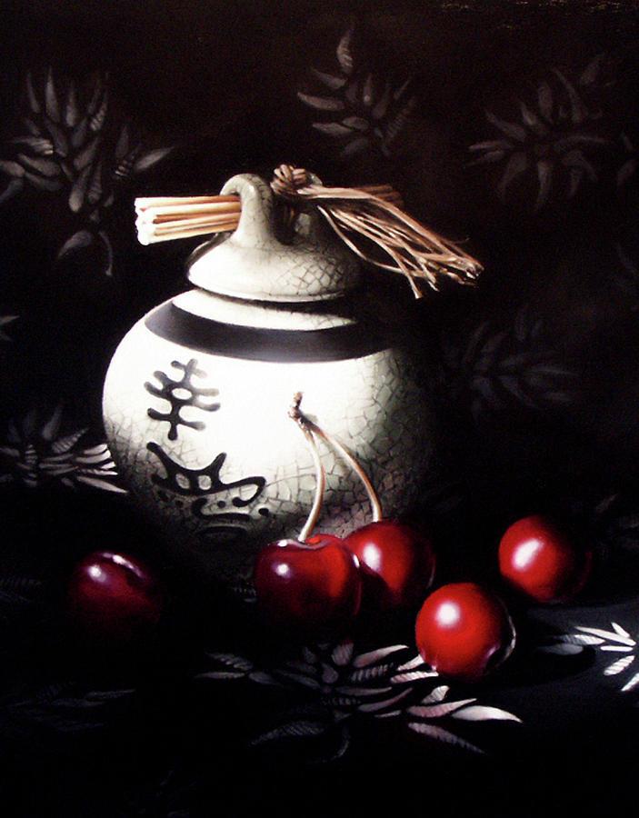 Oriental Pastel - Ornamental Cherries by Dianna Ponting