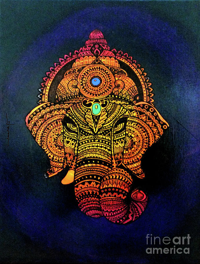 Ornamental Ganesha by Kreativ Corner