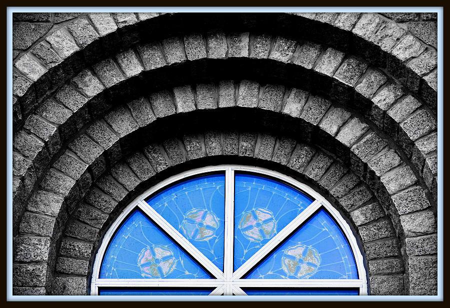 Ornate Stone Window Digital Art