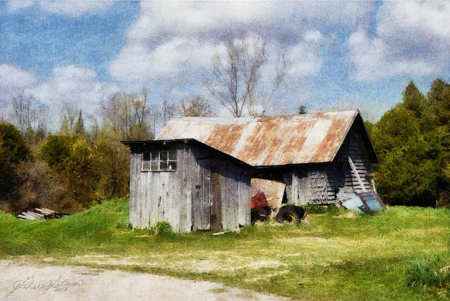 Oro Farm Sheds by JGracey Stinson