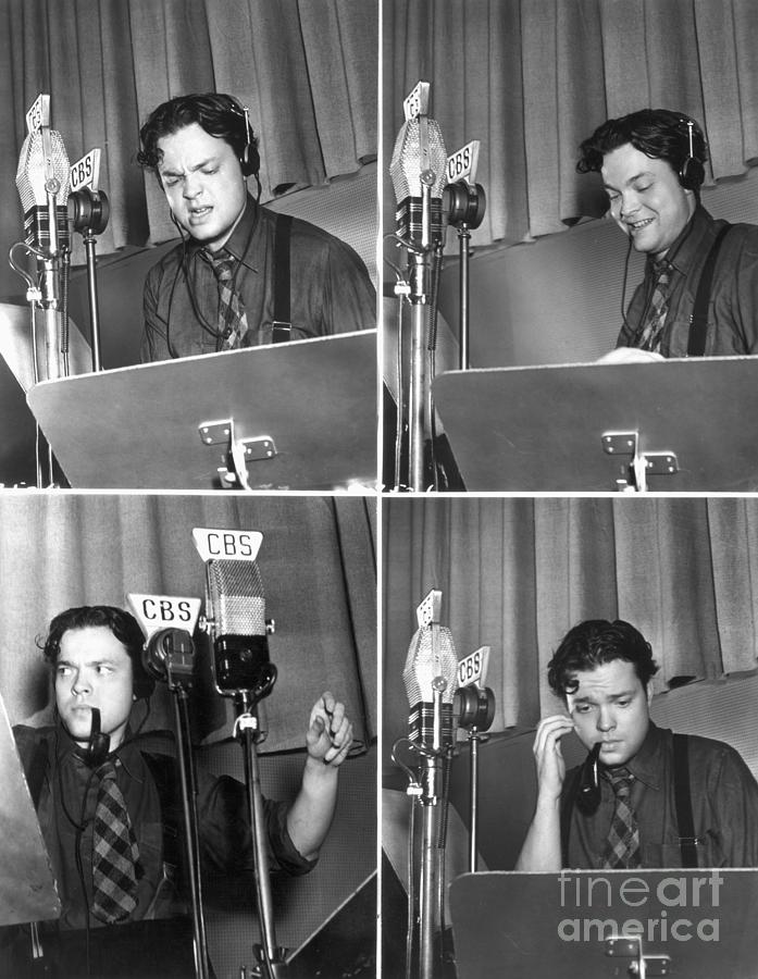 Orson Welles Broadcasting For Cbs Photograph by Bettmann