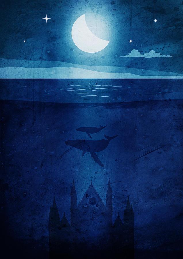 Orvieto whales night by Andrea Gatti