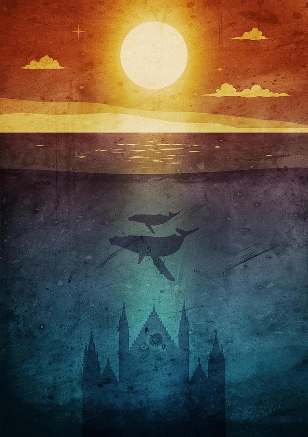 Orvieto whales twilight by Andrea Gatti