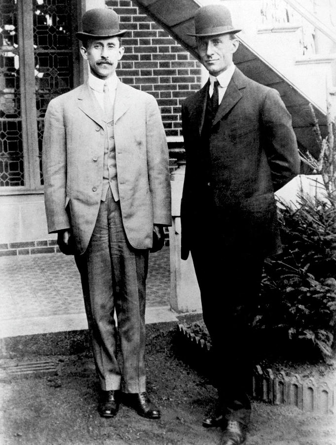 Orville and Wilbur Wright - 1909 by War Is Hell Store