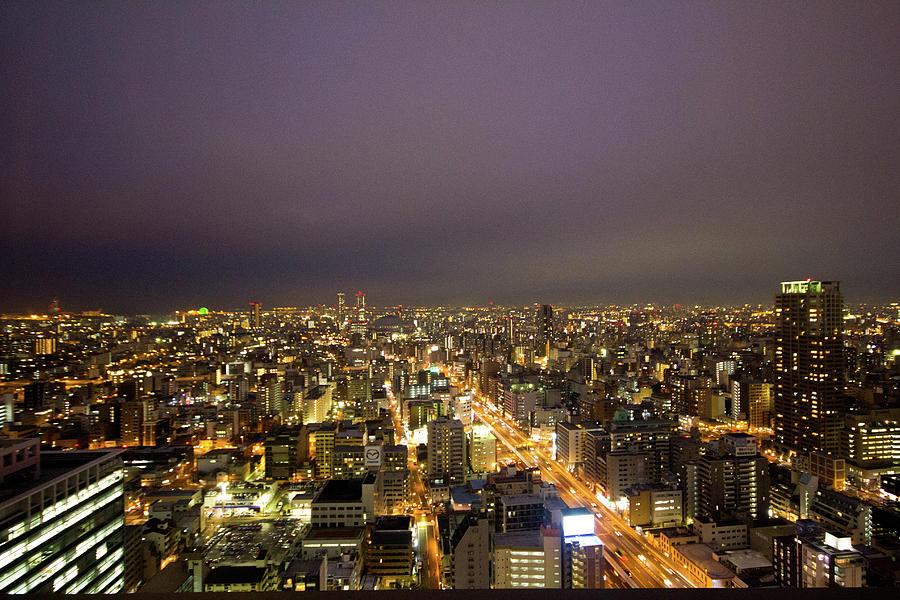 Osaka Skyline Photograph by Alex Barlow