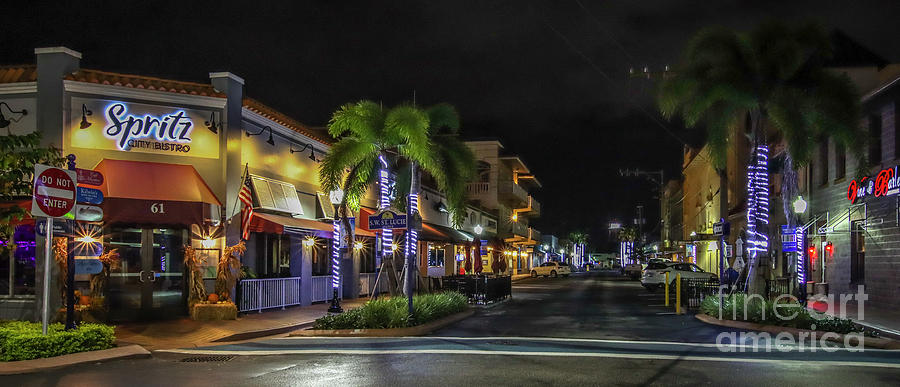 Osceola Street by Night by Tom Claud