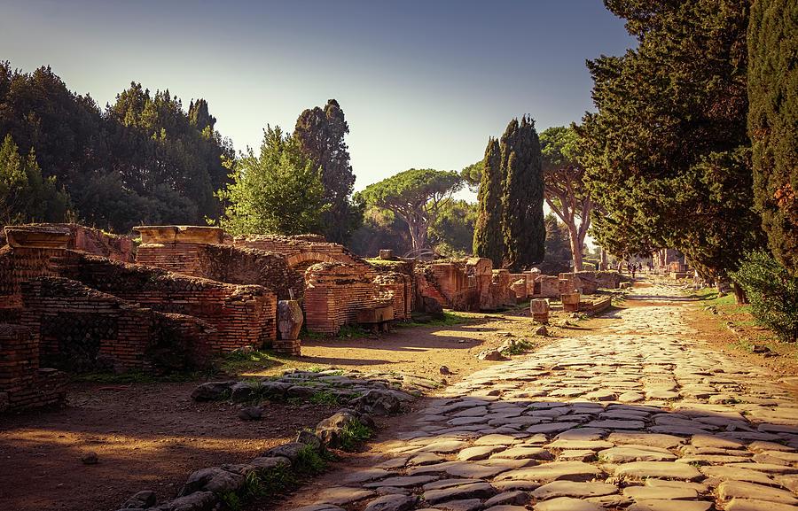 Ostia Antica Near Rome Italy by Joan Carroll