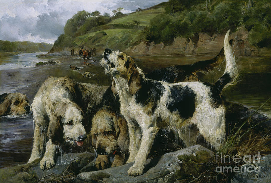 Otter Hunting, or On the Scent, 1881 by John Sargent Noble