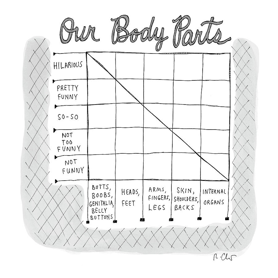 Our Body Parts Drawing by Roz Chast