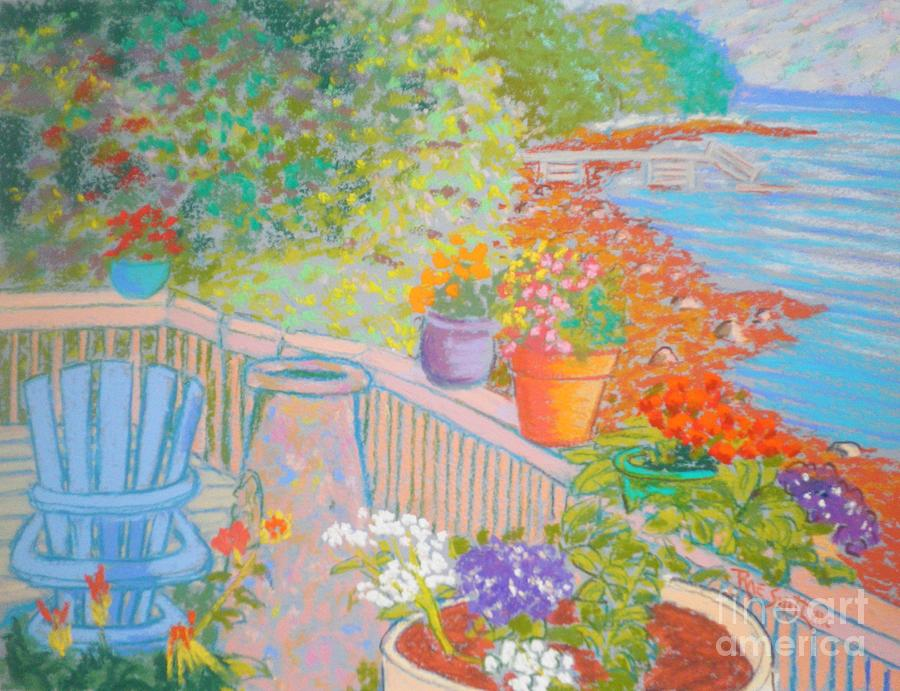 Our Cottage Deck in Summer by Rae  Smith PAC
