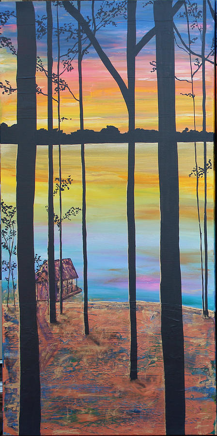 Retreat Painting - Our Dream Panel I by Kelly Gowan