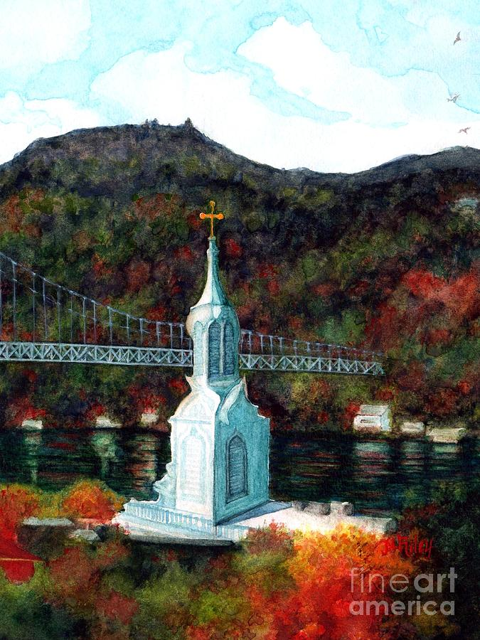Our Lady of Mount Carmel Church Steeple V - Poughkeepsie NY  by Janine Riley