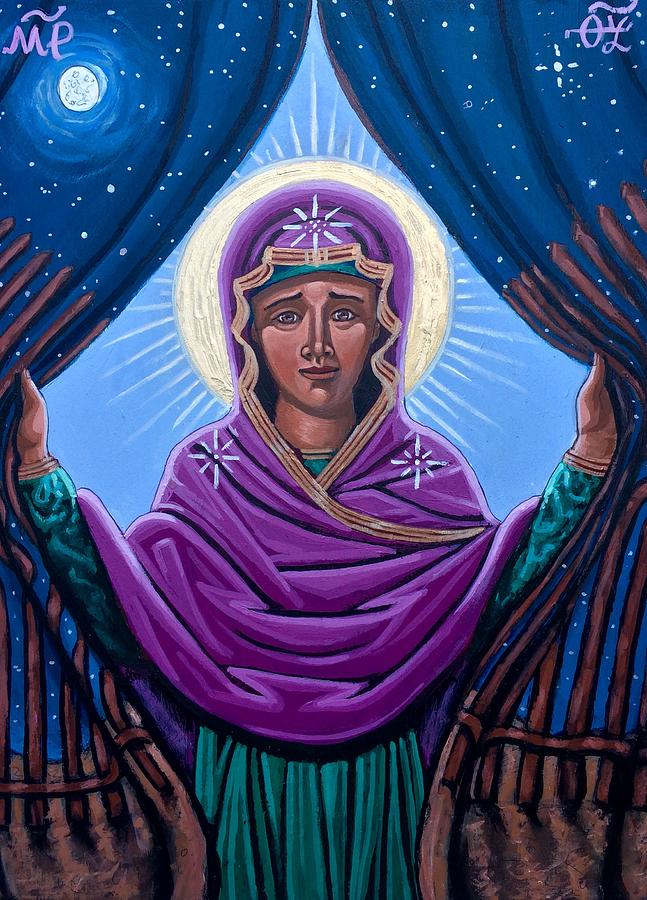 Our Lady Who Removes Walls Painting by Kelly Latimore