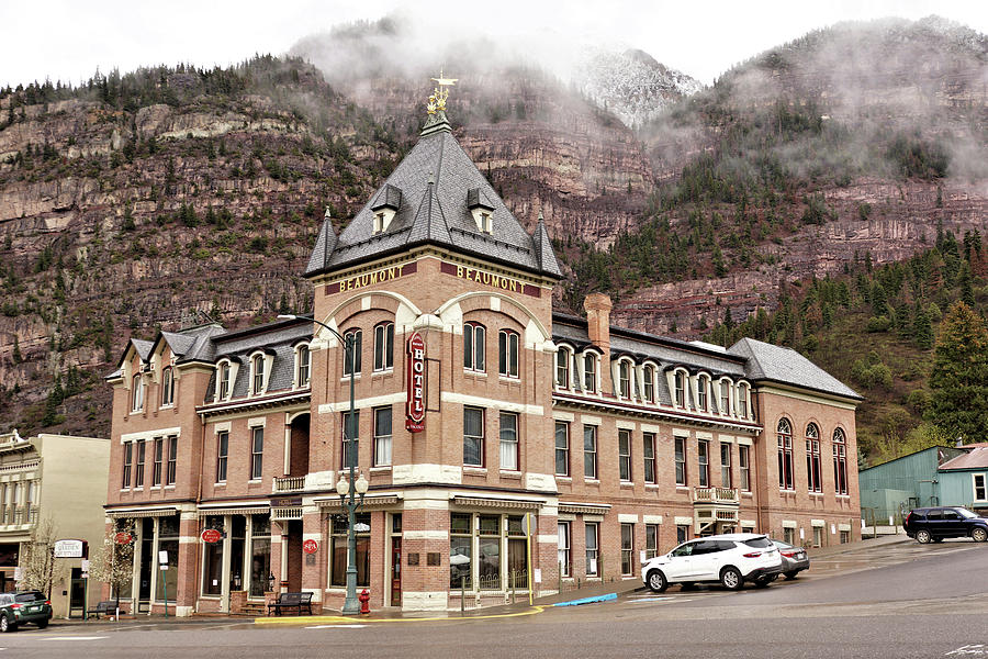 Building Photograph - Ouray Colorado - Architecture - Hotel by John Trommer