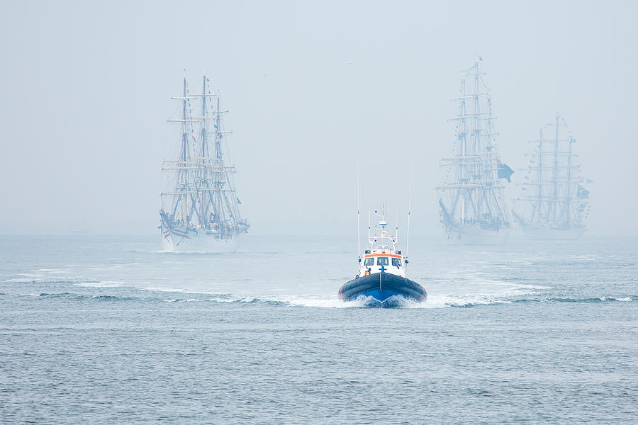 Tallship Photograph - Out Of The Blue by Ton Drijfhamer