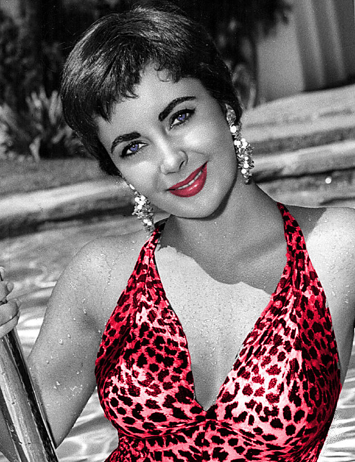 Out of the Pool Elizabeth Taylor 746 by Ericamaxine Price