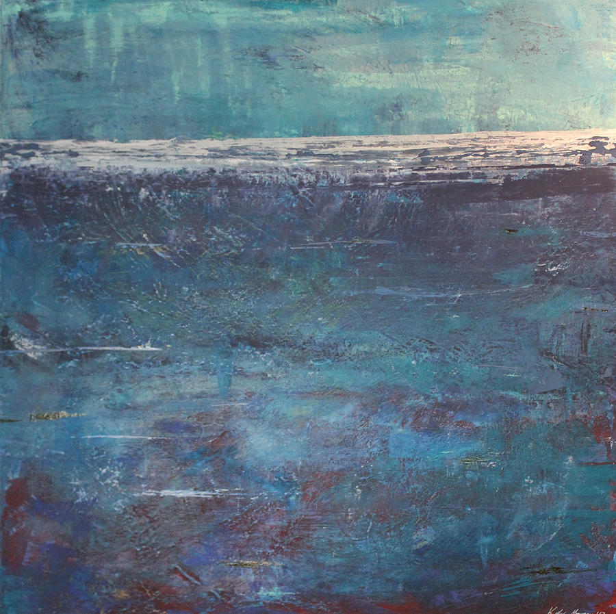Out To Sea Perseverance  Painting by Kelly Gowan
