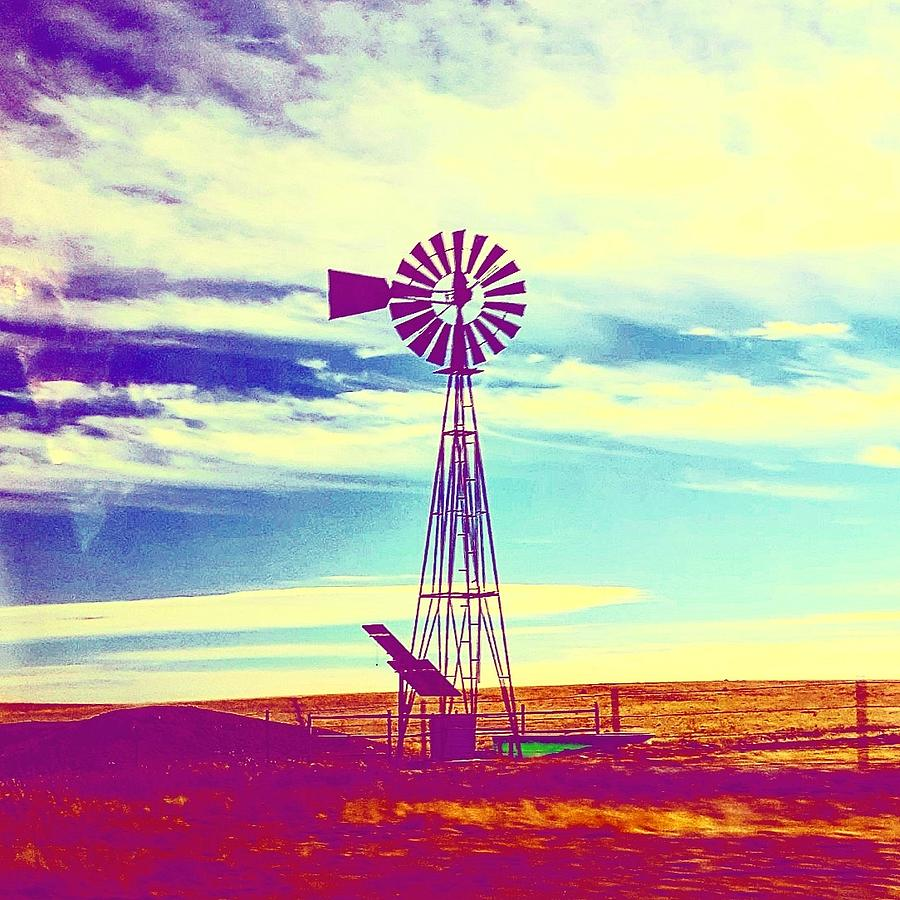 Windmill Photograph - Out West by Madeline Dillner